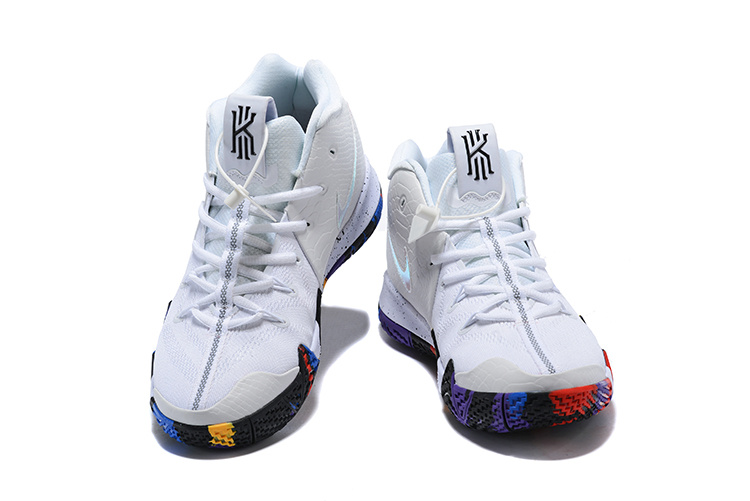 on sale ef693 d74b9 Nike Kyrie 4 The Moment White Multi-Color Men's Basketball Shoes 943806-104