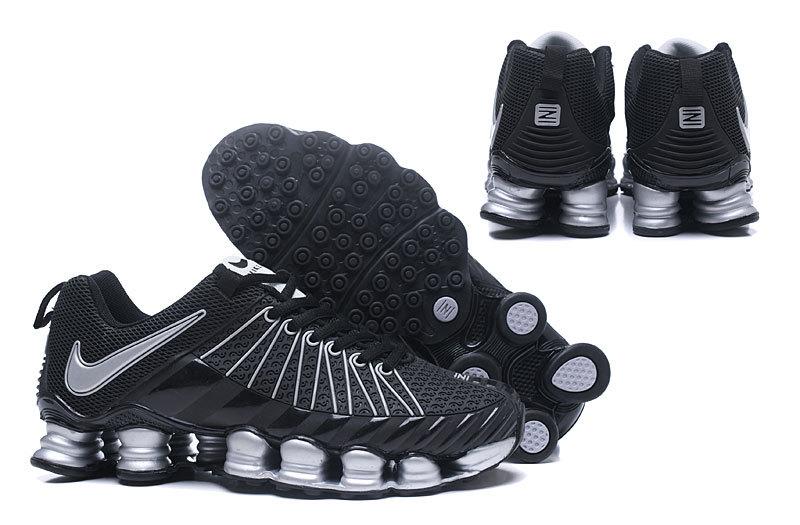 2a1246086a5 Nike Shox TLX KPU Black Silver Men s Running Shoes NIKE-ST000373 ...