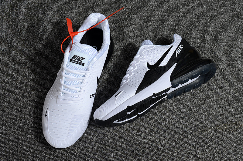 super popular f2416 4a895 Nike Air Max Flair 270 KPU White Black Men's Running Shoes NIKE-ST000038