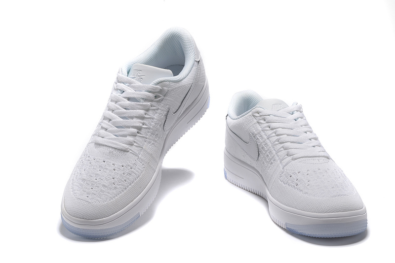 brand new 7b5bf 00e76 Nike Air Force 1 Ultra Flyknit Low White Women's Men's Casual Shoes  Sneakers 817420-100