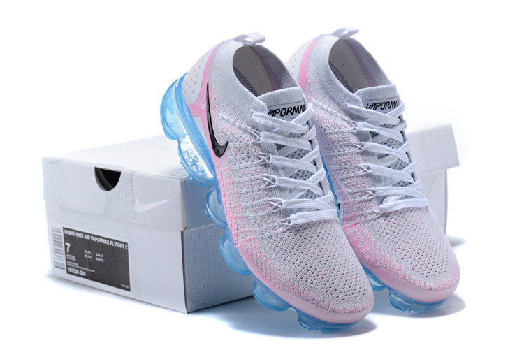 buy popular 6f0dd 96eb1 Nike Air VaporMax Flyknit TPU Grey Black Pink Women's Running Shoes  NIKE-ST000830