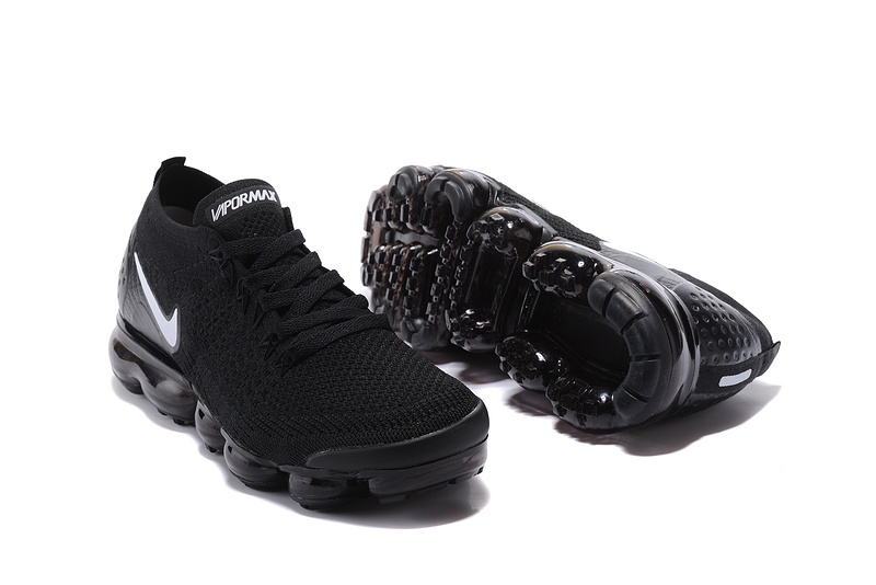 low priced 8470c c0df2 Nike Air VaporMax Flyknit 2 TPU Black White Women's Men's Running Shoes  NIKE-ST000575
