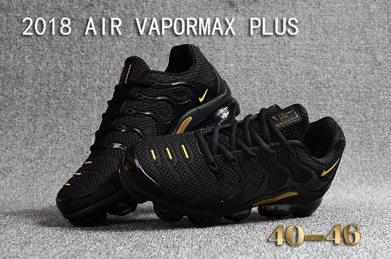 6030af19681 Nike Air Vapormax Plus KPU TN + 2018 Black Gold Men s Running Shoes ...