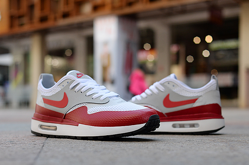 7fc330953a4 Nike Air Max 1 Ultra Essential White Neutral Grey White Varsity Red 819476  106 Men s Running