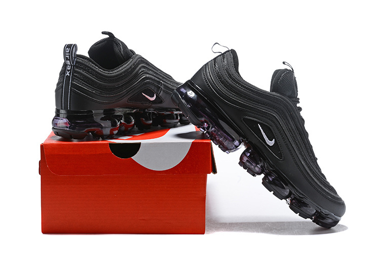low priced 5b0cc b7076 Nike Air VaporMax 97 Silver Bullet Triple Black Women's Men's Running Shoes  NIKE-ST000686