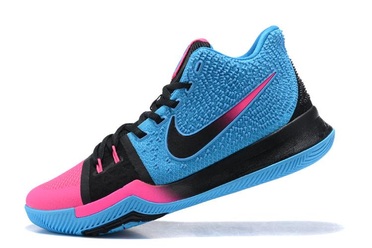 innovative design c2617 9eb2c Nike Kyrie 3 III EP Irving Charitable Edition Blue Pink Black Men's  Basketball Shoes NIKE-ST001489
