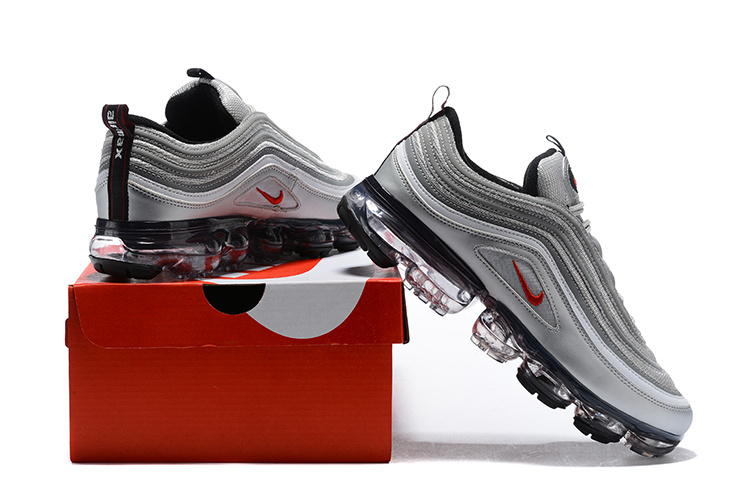 separation shoes 2a41f dd37e Nike Air VaporMax 97 Silver Bullet Metallic Silver Varsity Red White  Women's Men's Running Shoes AJ7291-002