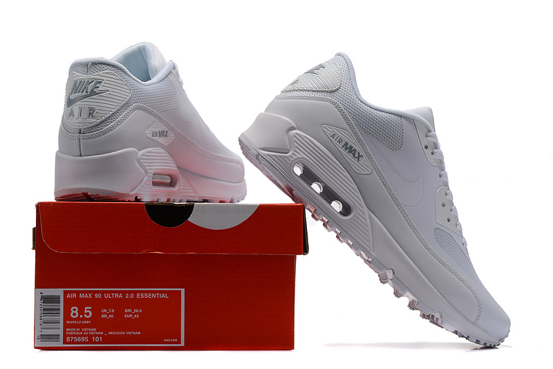 Nike Womens Shoes Air Max 90 Ultra Essential WhiteGrey