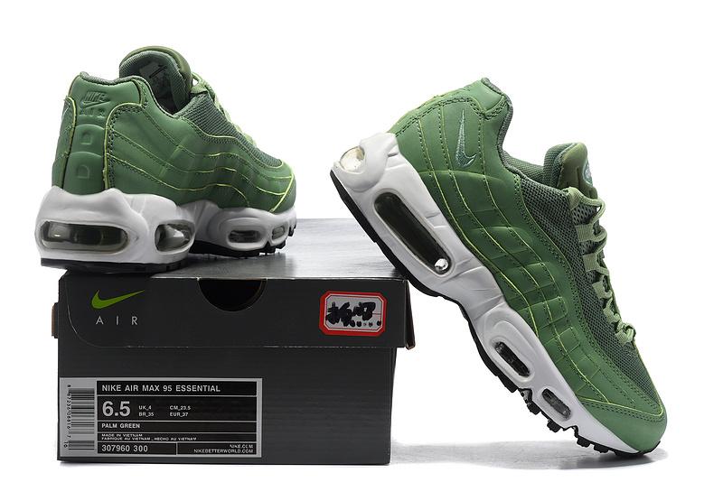 detailed look fdc2e 6e9c6 Nike Wmns Air Max 95 Essential Green White Women s ...