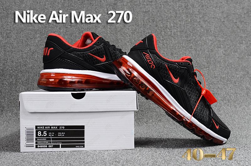 6db843c612 WMNS Nike Air Max 270 KPU Black Red White Men's Running Shoes 849559 ...