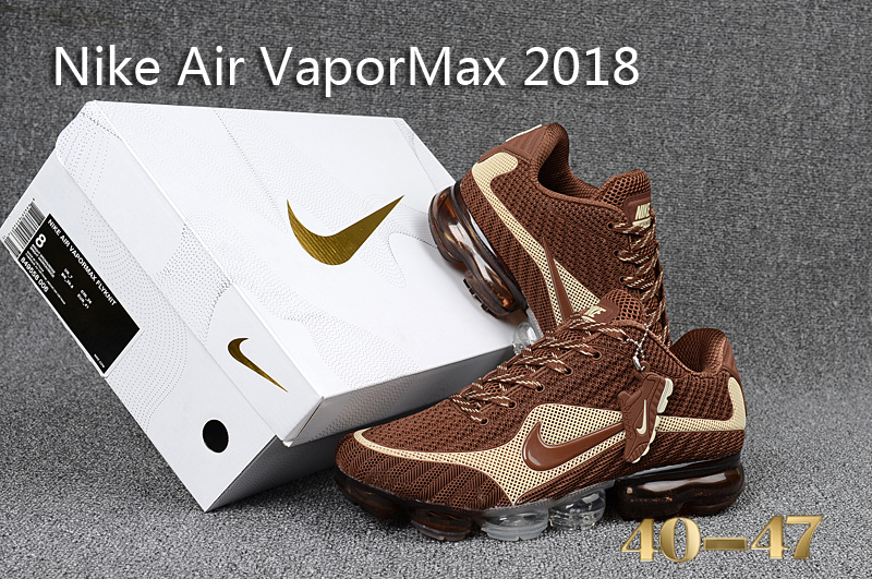 new product ab059 8ea22 Nike Air VaporMax 2018 KPU Beige Brown Men's Running Shoes 849556-006