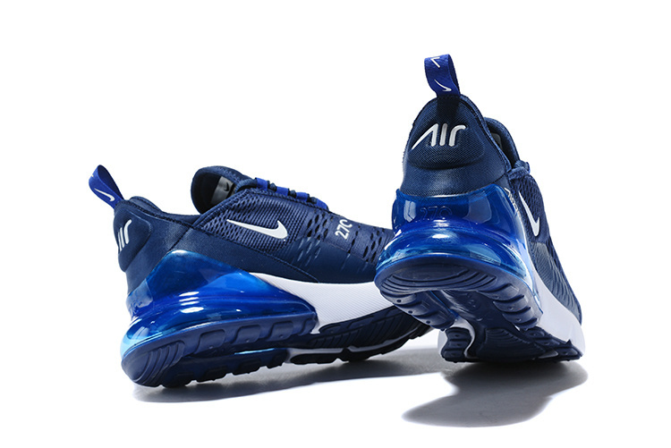 info for c6268 08a34 Nike Air Max 270 Flyknit Midnight Navy Black White Men s Running Shoes