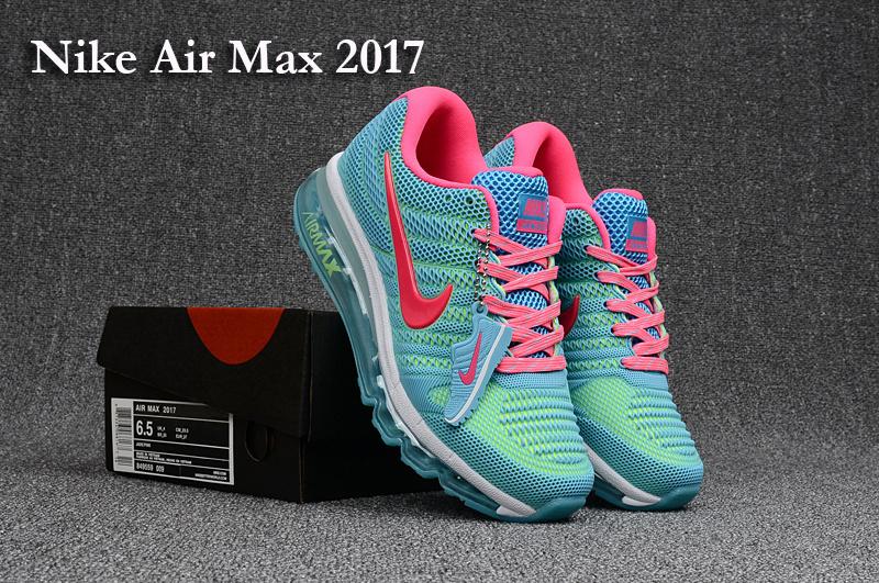 new style 9f6b0 4fa85 Nike Air Max 2017 KPU Blue Pink Women's Running Shoes 849560--009