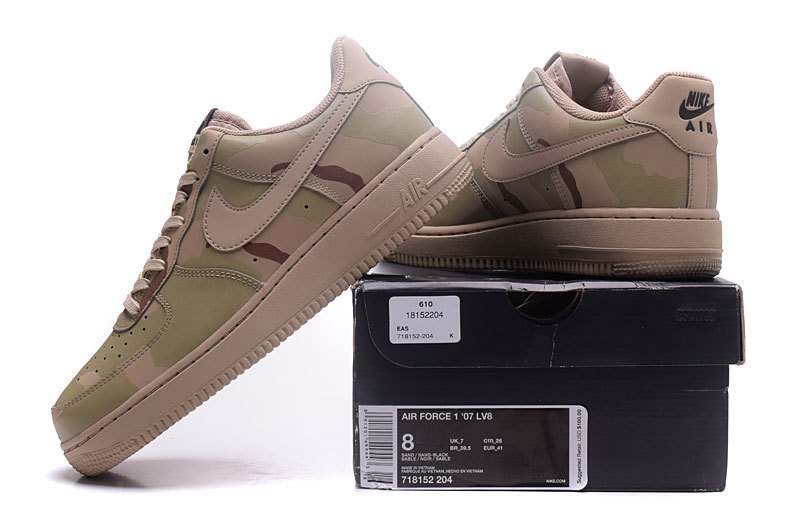 promo code 01e9d 8129a Nike Air Force 1 Reflective Desert Camo Mens Womens Running Shoes  Sneakers 718152-204  WithTheSale.com