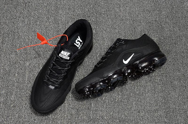 detailed look 61108 c743a Nike Air VaporMax Flyknit 2018. 5 Kpu Triple Black Men's Women's Running  Shoes NIKE-ST000587
