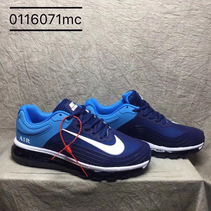 uk availability f3910 f1d8f Nike Air Max 2018 Kpu Navy Blue Royal Blue White Men's Running Shoes  NIKE-ST000861