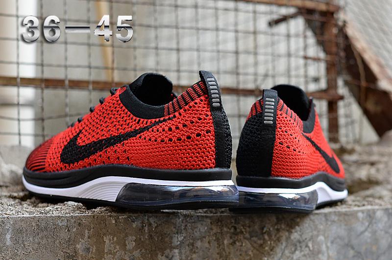 86f9e18eb7b18 Nike Air Zoom Mariah Flyknit Racer Red Black White Women s Men s Running  Shoes