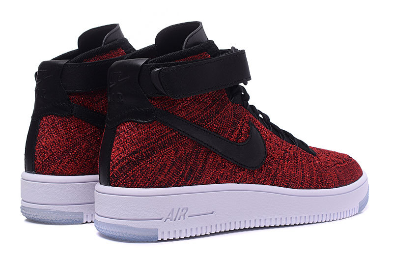 competitive price cb35d 385b4 Nike Wmns Air Force 1 Ultra Flyknit Mid University Red Black Women's Men's  Casual Shoes Sneakers 817420-600