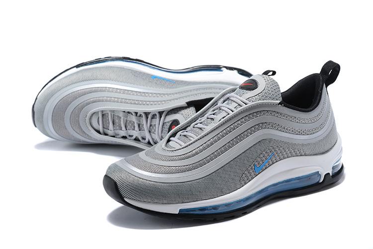 timeless design e2fe1 f4cb8 Nike Air Max 97 Ultra 17 Silver Bullet Blue White Men's Running Shoes  NIKE-ST000727