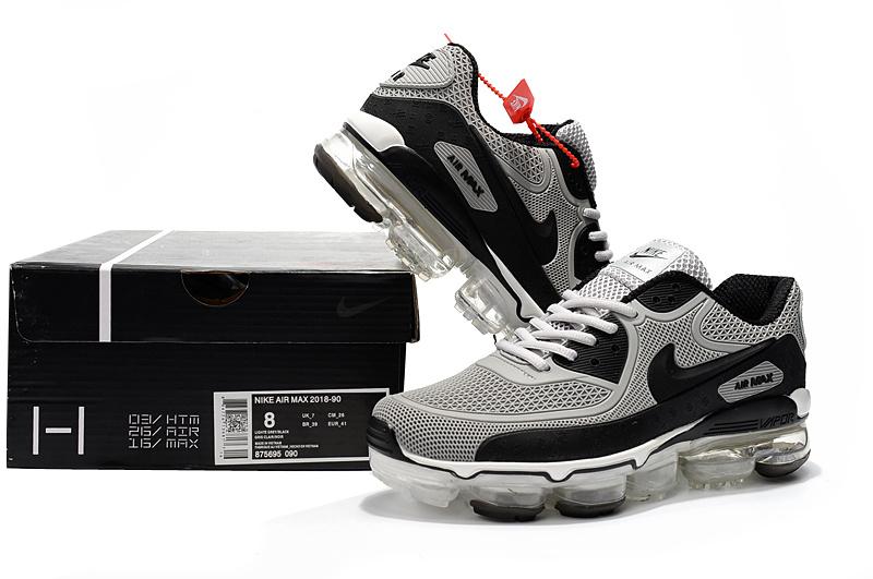 13b1610396 Off White x Nike Air Max 90 KPU Wolf Grey Black White 875695 090 ...