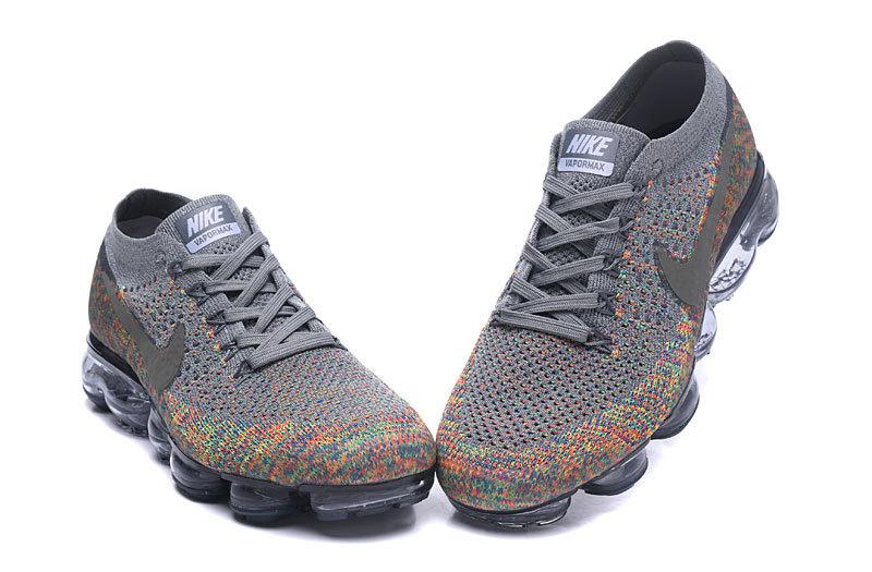 check out 82738 55d3c Nike Air VaporMax Flyknit Dark Grey Blue Orbit Hyper Punch Reflect Silver  Womens Mens Running Shoes