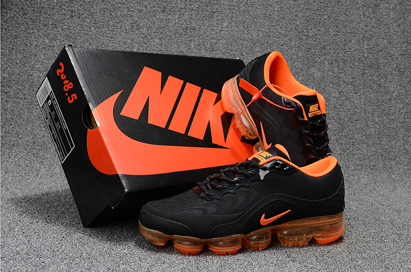 e16b703fbce Nike Air VaporMax Flyknit 2018. 5 Kpu Black Orange Men s Running ...