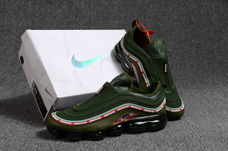 san francisco 6aeef c4158 Undefeated Nike Air Max 97 VaporMax 2018 KPU Green Black Red White Men s ...