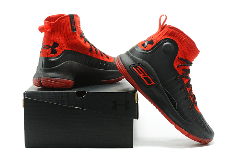 f8d265add0ae Under Armour Stephen Curry 4 University Red Black Men s Basketball ...