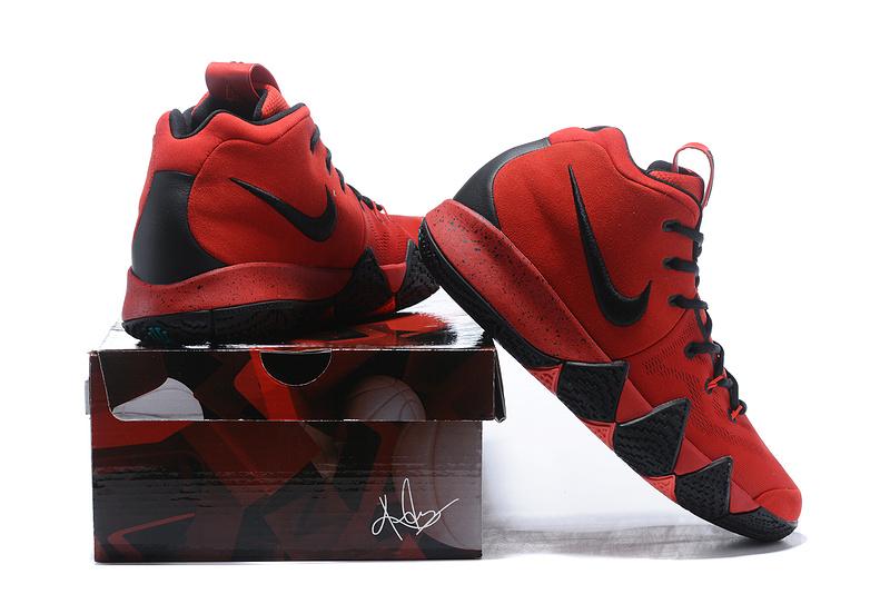 Nike Kyrie 4 Solar Red Black Men s Basketball Shoes NIKE-ST001587 ... e633aee65