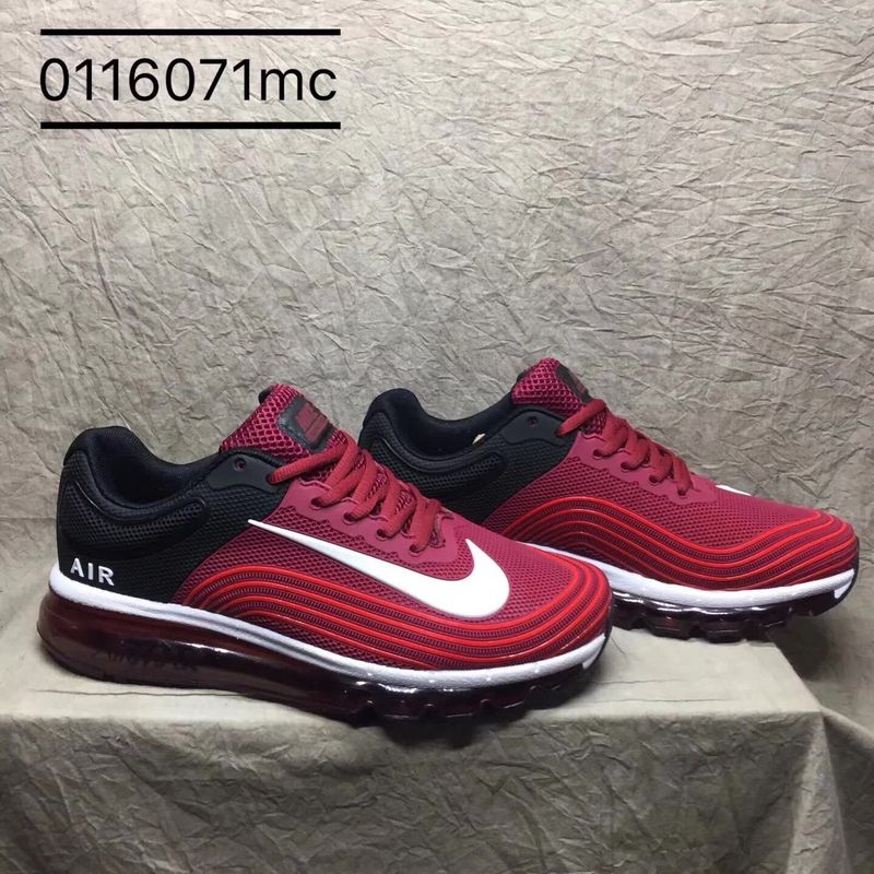 b134ad6247 Nike Air Max 2018 Kpu Red Burgundy White Black Men's Running Shoes ...