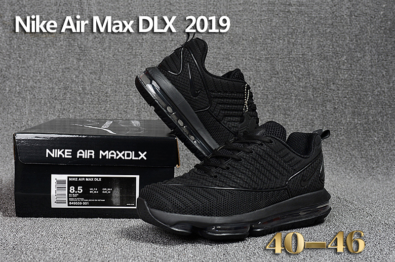 d4ab73f6cc3c Nike Air Max DLX 2019 Triple Black Men s Running Shoes 849559--001 ...