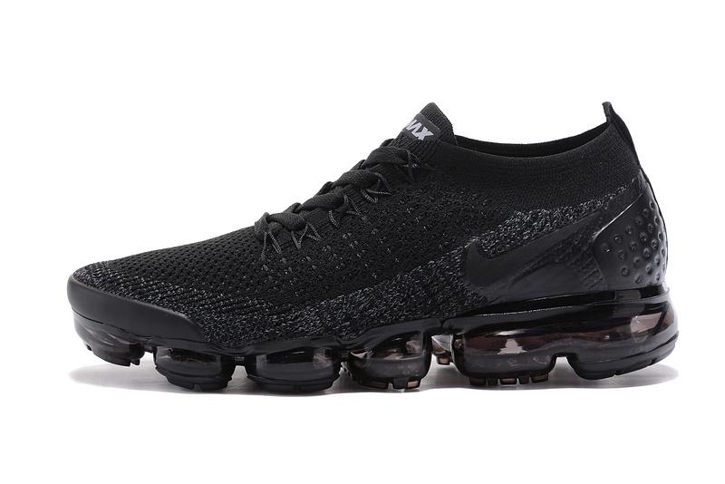 6d3a0ed7b2c Nike Air VaporMax Flyknit 2 TPU Triple Black Women s Men s Running Shoes