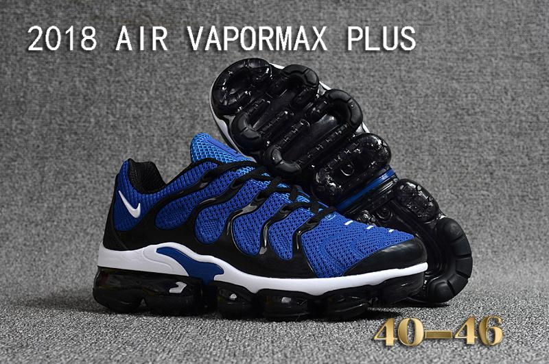 uk availability 637f2 0aa9d Nike Air Vapormax Plus KPU TN + 2018 Royal Blue Black ...