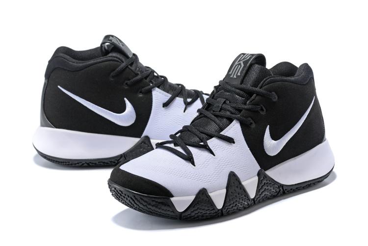 0c1ba312a700 Nike Kyrie Irving 4 Oreo White Black Men s Basketball Shoes NIKE ...