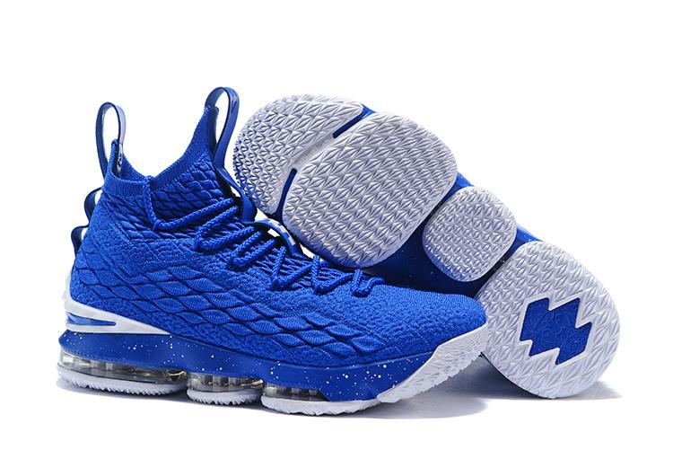 detailing 2d0c3 34e3c Nike Lebron XV 15 Royal Blue White Men's Basketball Shoes NIKE-ST001748