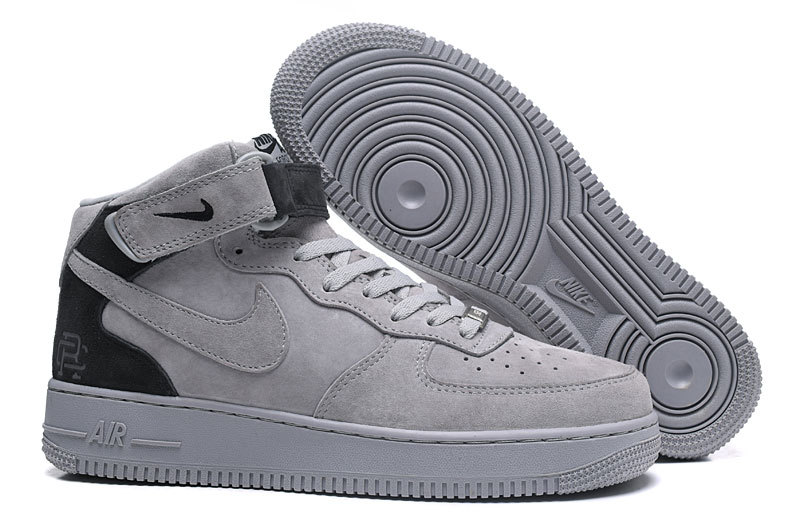 wholesale dealer b76ad 067f1 Nike Air Force 1 Mid Reigning Champ Reflective Grey Black Men's Women's  Running Shoes Sneakers 807618-200