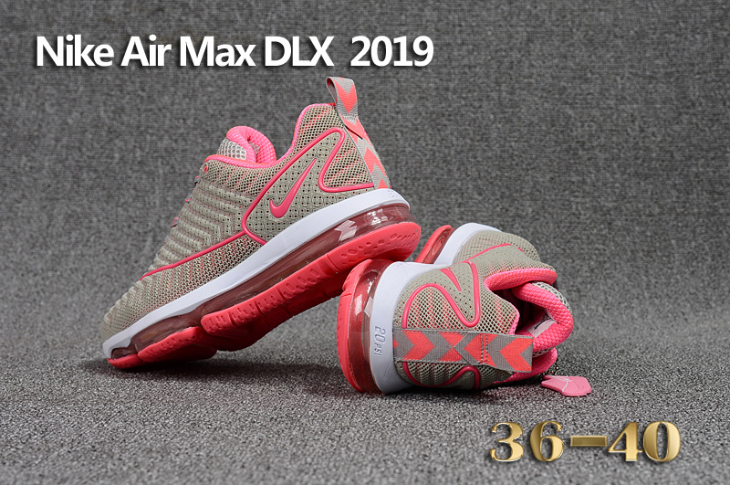 online store bef2a 6e0ec Nike Air Max DLX 2019 Pink Grey White Women's Running Shoes 849559-013