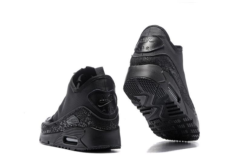 timeless design 029e2 15b87 Nike Air Max 90 Utility Triple Blacks Men's Running Shoes 858956-001