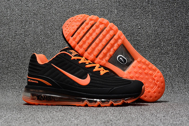 03e1d25504 Nike Air Max 360 Kpu Black Orange Men's Running Shoes 310908-008 ...
