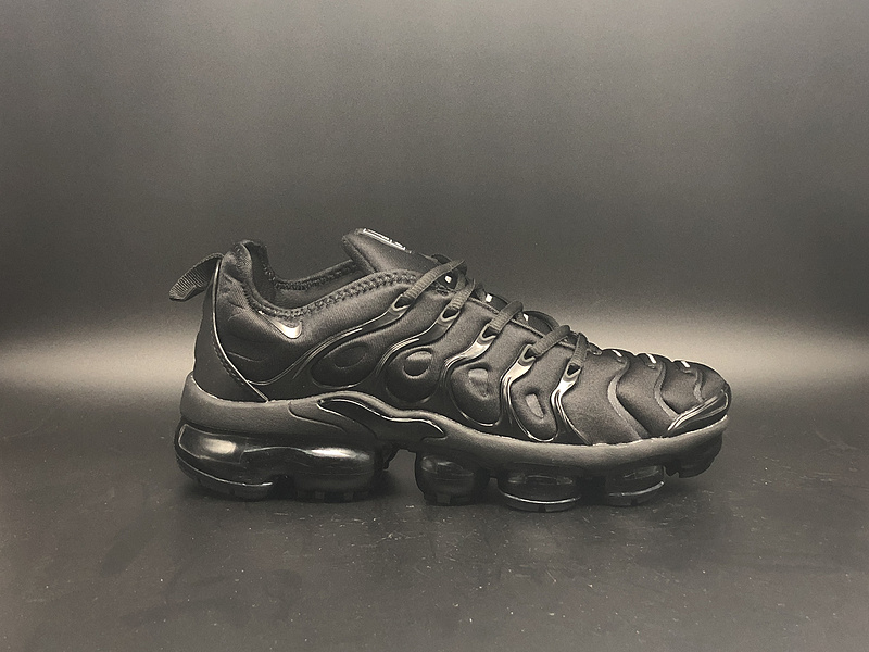 best sneakers 8633d 9c809 Nike Air Vapormax Plus TN Triple Black Men's Running Shoes NIKE-ST000973
