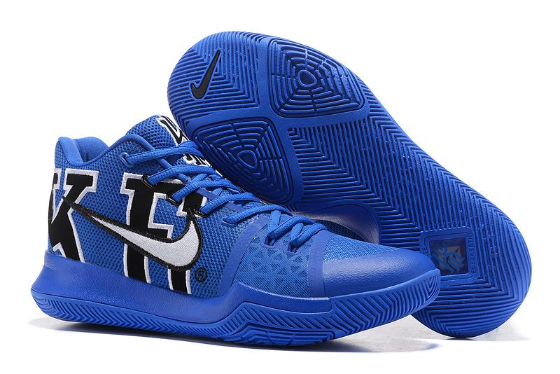 innovative design 84dae 578bd Nike Kyrie 3 PE NCAA Duke Blue Devils Black Game Royal Men's Basketball  Shoes 922027-001