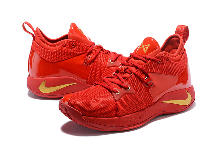 57d5987e20225f Nike PG 2 Paul George October Red Gold Men s Basketball Shoes NIKE ...