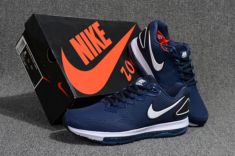 aa1e0ce0465 Nike Air Zoom All Out Kpu Navy Blue White Men s Running Shoes NIKE ...