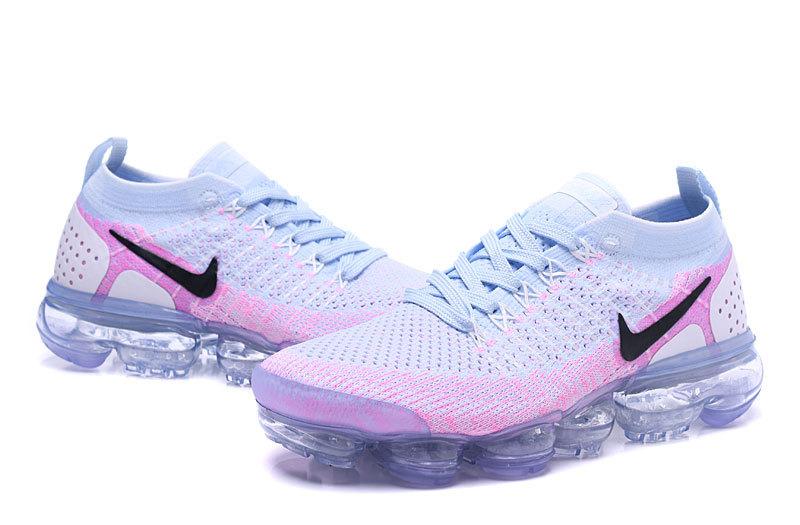 wholesale dealer b2a77 b3632 Nike Air VaporMax Flyknit 2 White Hydrogen Blue Pink Women's Running Shoes  942843-102