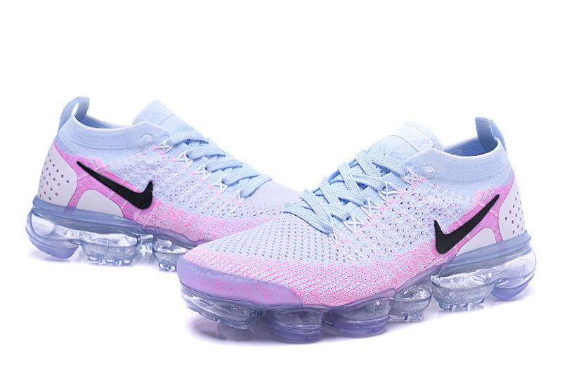wholesale dealer 5f0dd 3d959 Nike Air VaporMax Flyknit 2 White Hydrogen Blue Pink Women's Running Shoes  942843-102