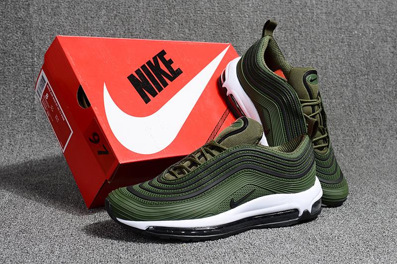 low priced c191d 6b6c3 Nike Air Max 97 Kpu OG Playstation Olive Green Black White Men's Running  Shoes NIKE-ST000677