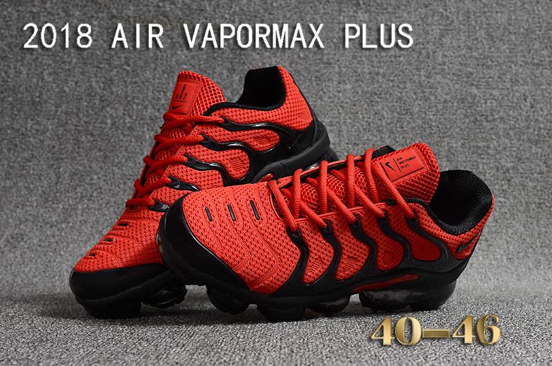54236d28c Nike Air Vapormax Plus KPU TN + 2018 October Red Black Men's Running Shoes  NIKE-ST000957