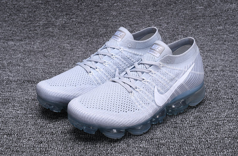 size 40 15b30 8eebb Nike Air VaporMax Flyknit Pure Platinum White Wolf Grey Men's Running Shoes  849558-004A