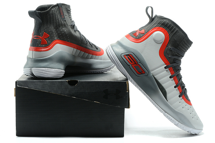 Under Armour Stephen Curry 4 Gray Black Red Men s Basketball Shoes ... 97733ff6d