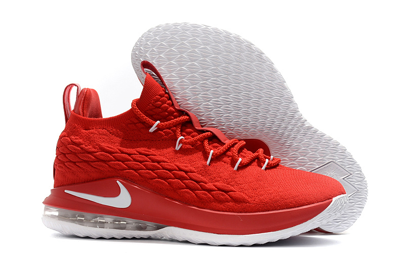 49231d98f0ff2 Nike LeBron 15 Low University Red White Men s Basketball Shoes NIKE ...